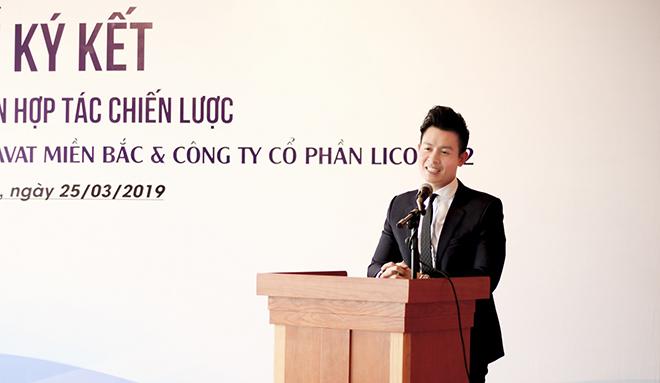 Ông Lê Văn Thăng - Phó chủ tịch HĐQT Bravat Miền Bắc phát biểu tại buổi lễ