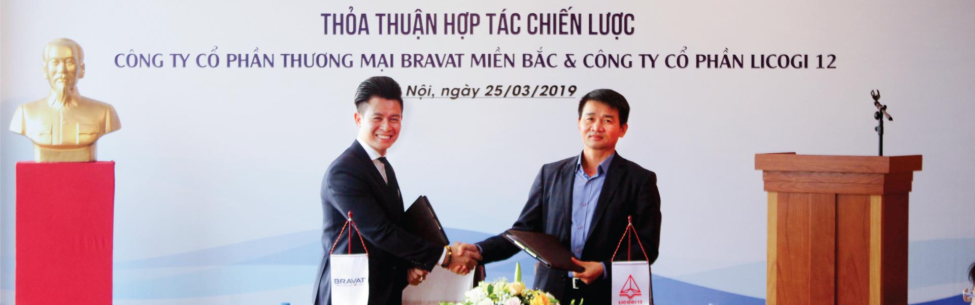 Bravat Miền Bắc – chính thức hợp tác chiến lược cùng Licogi 12
