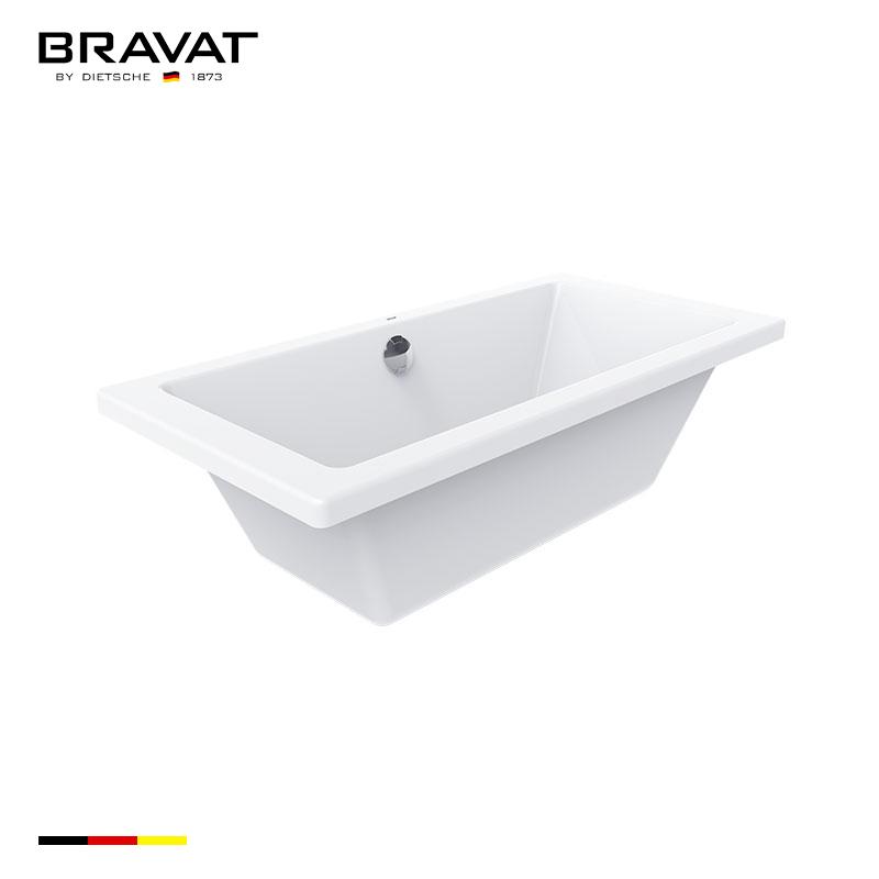1.7m Deck Mounted Simple Bathtub B25706W