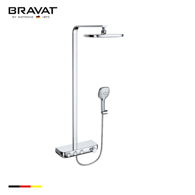 Single Handle Thermostatic Wall Mounted Shower Bar F6389423CP-A1