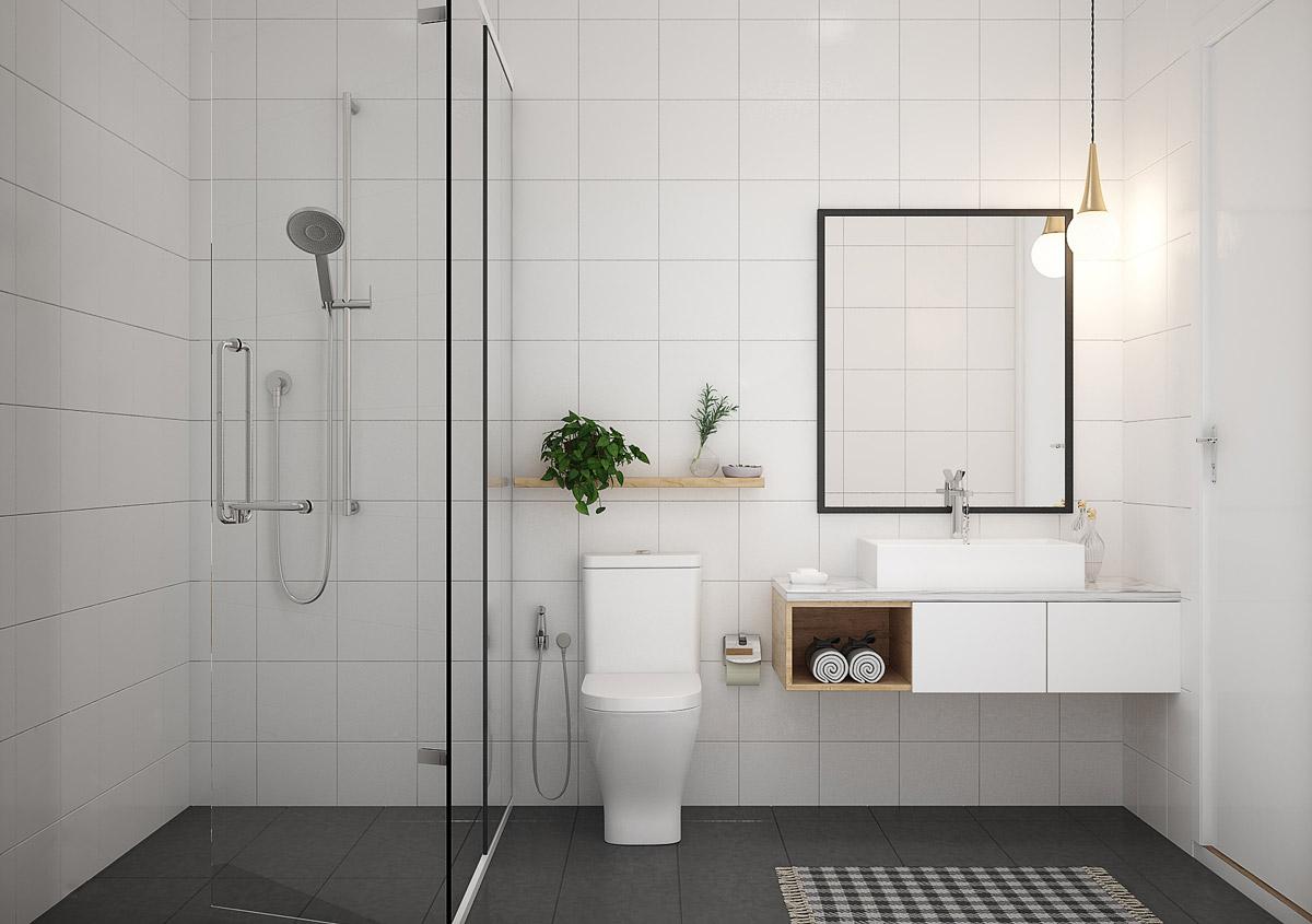 Hoàn thiện phụ kiện nhà tắm đẹp